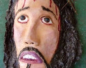ECCE HOMO Christ with a crown of thorns , wall hanging