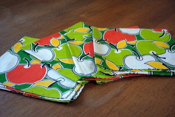 Set of Four Apple Napkins