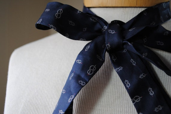 Silk Nautical Knot Tie Scarf by Symphony
