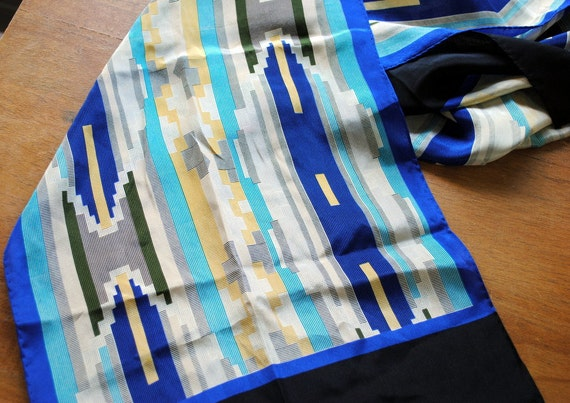 RESERVED FOR FLORIBO Anne Klein Silk Ethnic Print Scarf