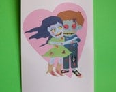 My Zombie Love Greeting Card (Couple)