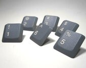 Push Pins Computer Keyboard Numbers Upcycled Computer Parts Set of 18