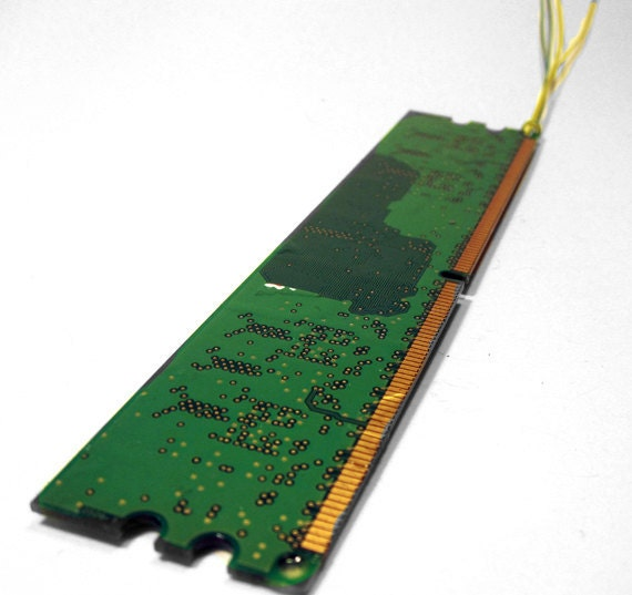 Circuit Board Bookmark Large Upcycled Computer
