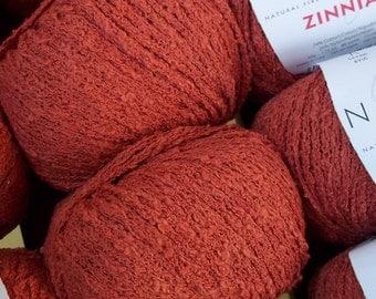 WORSTED Weight Yarn - Terra Cotta Cotton Blend - Nashua  Handknits Zinnia - 50 g 80 yards - Brick Clay