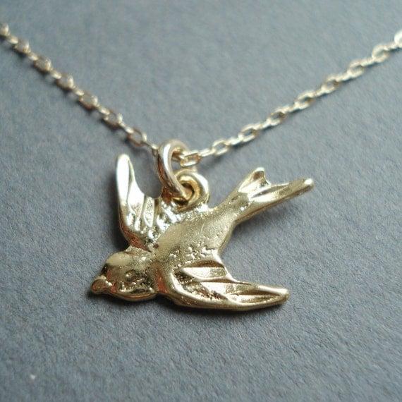 Sparrow in Flight (Gold)