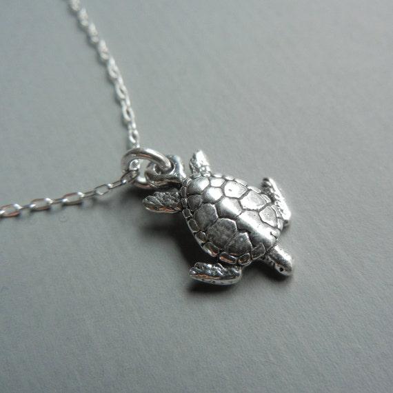 Tiny Sea Turtle Necklace