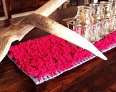 Fuschia Pink Table Runner - Textured, Unique & Modern