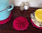 Modern Doily - Small - Fuschia Table Topper