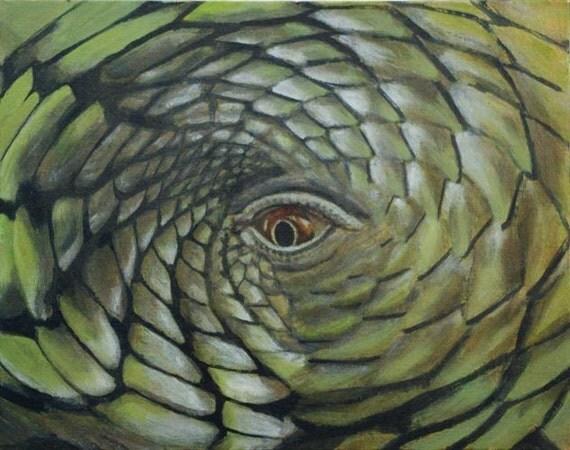 iguana eye painting - photo #8