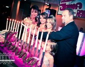 Mitzvah Candle Lighting Boards - Sweet 16 Candelabras