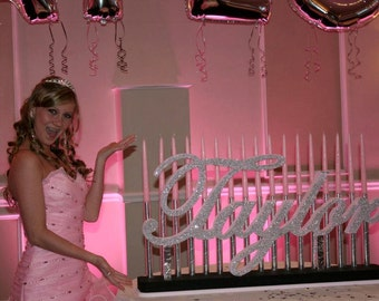 Sweet 16 Bat Mitzvah Candle Lighting Board Quinceanera Custom Candelabra