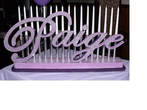 Sweet 16 Candelabras Mitzvah Candle Lighting Boards