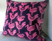 Pink Bird Pillow 1970's