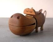 Zoo Line Wooden Hippo