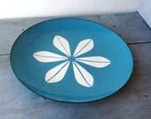 Large Blue Cathrineholm Plate