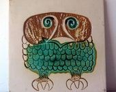 Bennington Owl Art Tile