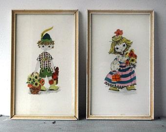 German  Boy & Girl Prints