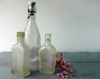 Antique Apothecary Bottles, Set F