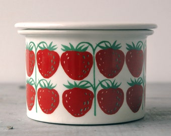 Arabia Strawberry Jam Pot