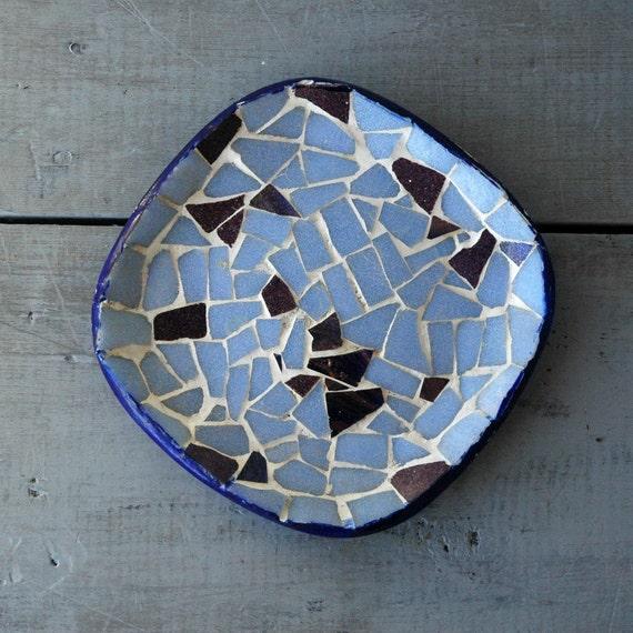 Blue Mosaic Dish