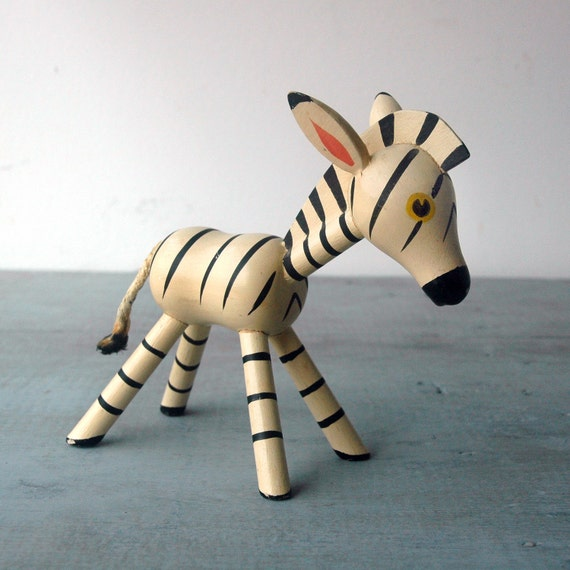 Wooden Zebra Toy-Reserved for R