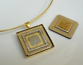 Intel CPU Recycled Computer Necklace