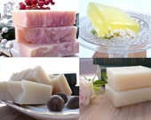 Pick any 4 hand made cold process soap bars all natural vegan flat rate shipping