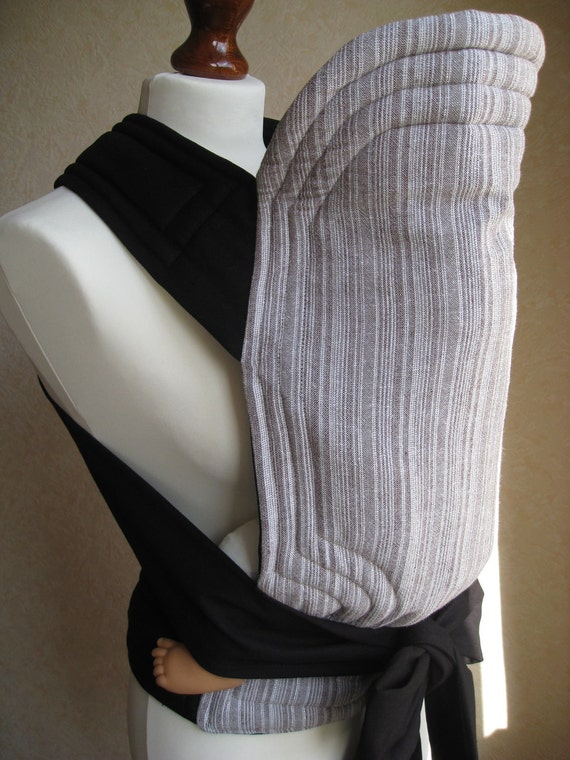 MEI TAI Baby Carrier / Sling in Gray Stripes