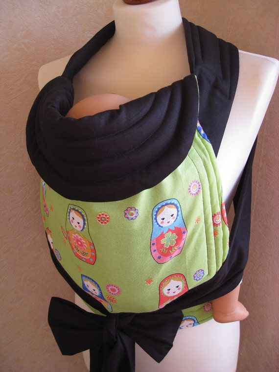 MEI TAI Baby Carrier / Sling  / Reversible / Russian Dolls in straight cut model