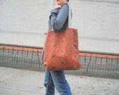 Modern Carpet Bag // Elephant Corduroy
