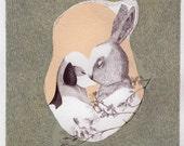 St Valentine  Day  Giclee print, fine art, Real love