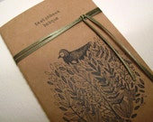 mini moleskine, sketchbook illustrated, original tint drawing, bosque