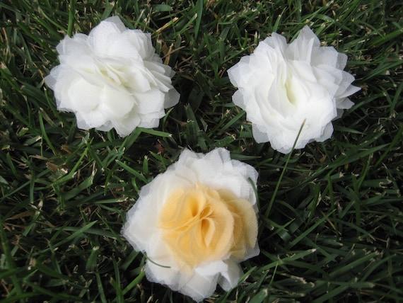 silk chiffon flower hair accessory