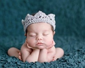 Little Crown Headband for Newborn Princess - Adorable Photo Prop - SILVER