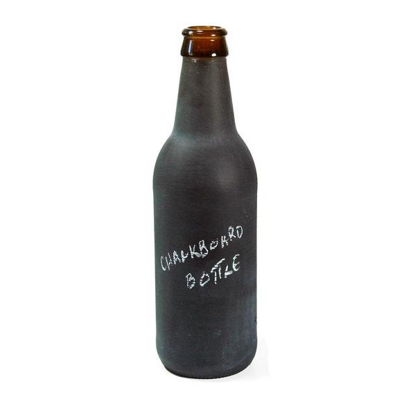Chalkboard Bottle Incense Burner, Upcycled Beer Bottle, CHALKBOARD