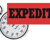EXPEDITED SERVICE - Your bag will be made ( within 5-10 Business days )