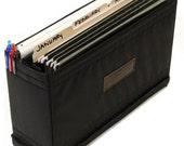Large File Organizer Bag Insert - Adjustable Divider - Padded - crafted from water resistant nylon -