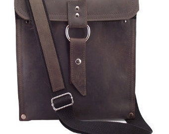 Leather iPad Bag New:  - Rustic Brown Slim Traveler