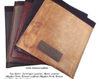 Classic iPad Sleeve full-grain leather - suede lined - water resistant