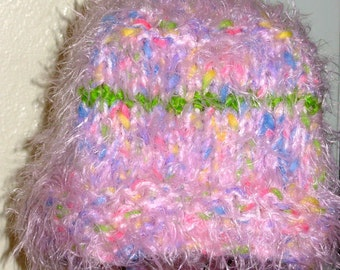 Pink Angora Hat