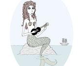 Mermaid With Ukulele