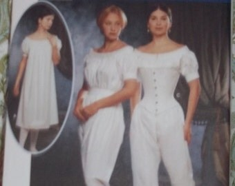 Simplicity 9769 Victorian Undergarments costume pattern