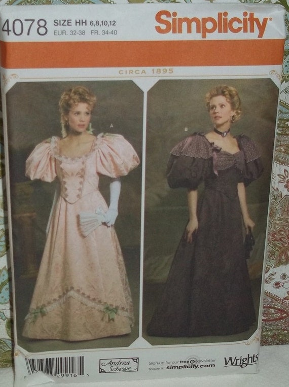 Turn of the Century Ballgowns pattern Simplicity 4078