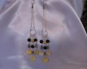 Classy Spring Bee Colors Sterling Silver Earrings