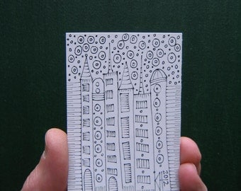 Doodle J3, ACEO, Original Illustration