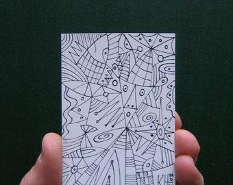Doodle J4, ACEO, Original Illustration