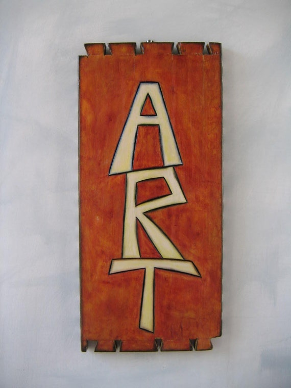 ART, Original Carving in Salvaged Wood, Wall Art, by Fig Jam Studio