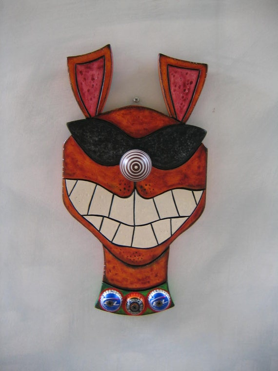 Bad Dog 2 - Original Wall Art, Wood Carving, by Fig Jam Studio