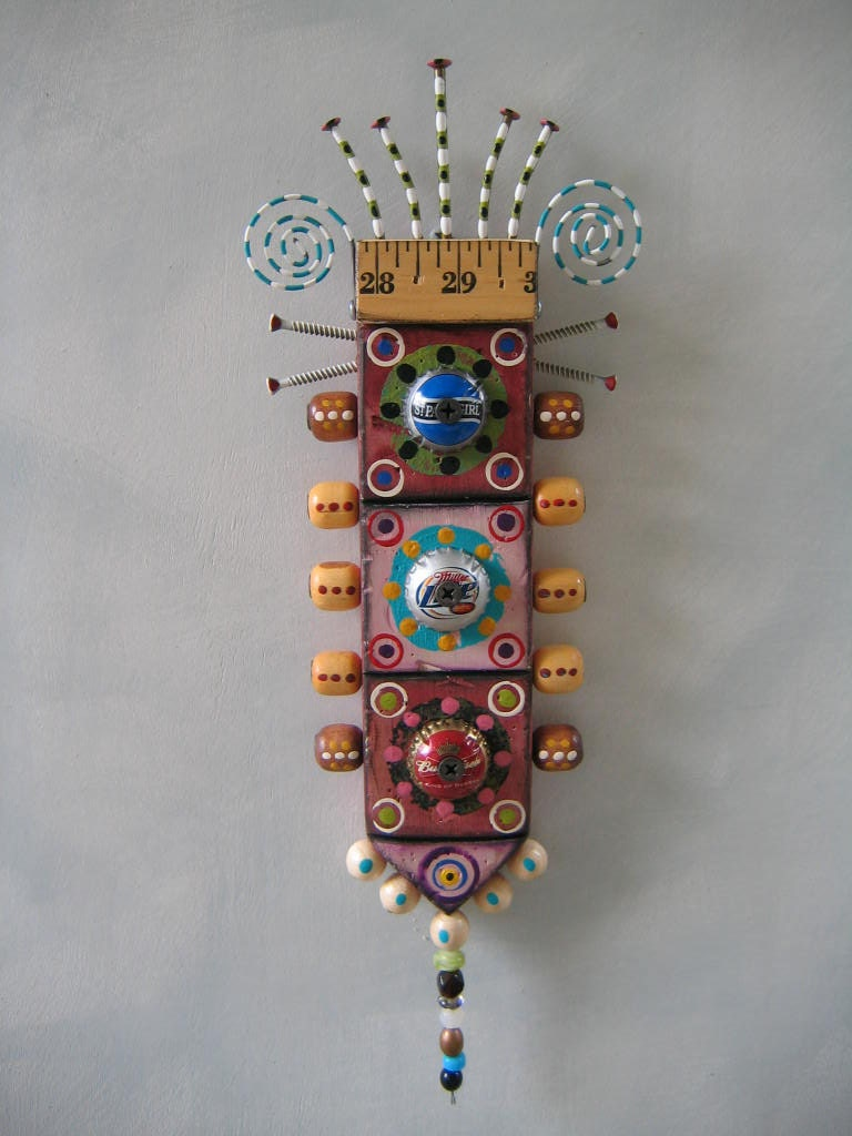 Wall Decor With Rhinestone : Wall bling original found object sculpture art by