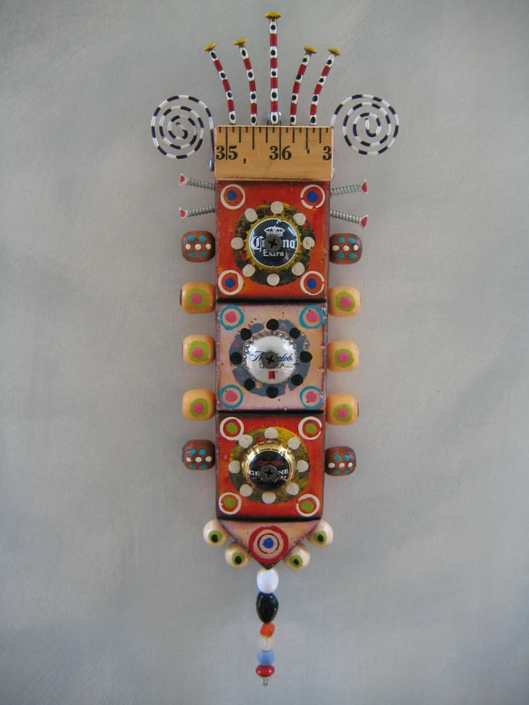 Wall Bling 13 Original Found Object Sculpture Wall By